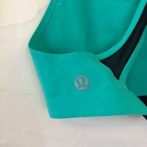 lululemon athletica Intimates & Sleepwear - Lululemon Itty Bracer teal and black mesh bra 32A